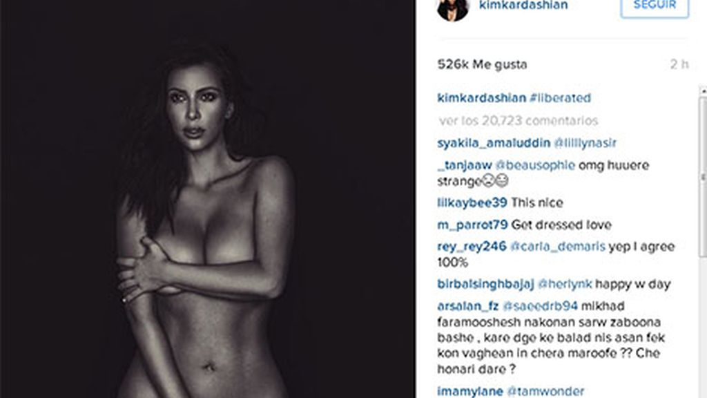Kim Kardashian desnuda (Instagram)