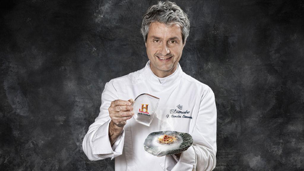 Frutos rojos, trucha, codorniz y cordero de Fernando Canales para 'La última cena'