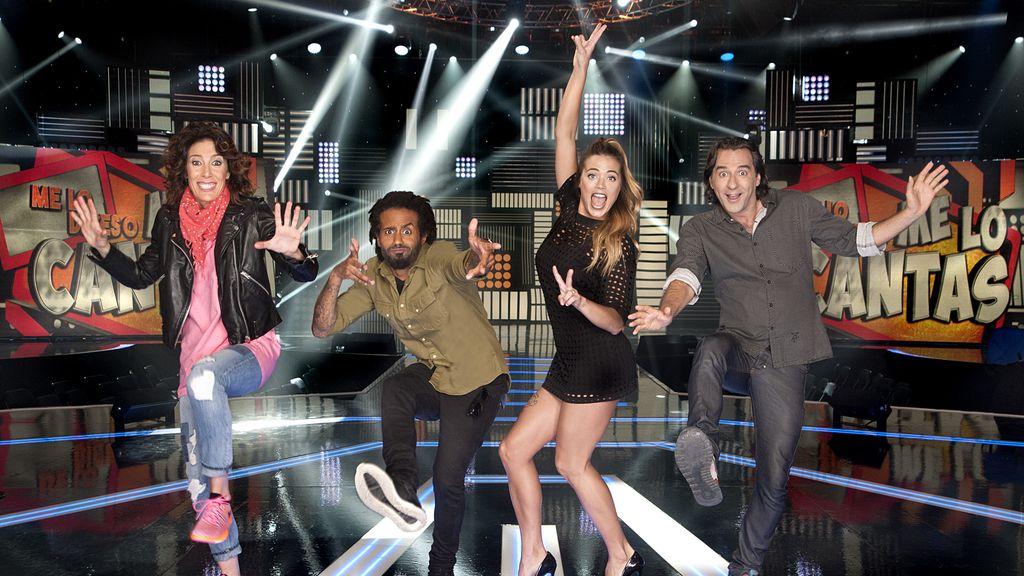 Vivy Lin, Sergio Alcover, Alyson Eckmann y Javi Martín forman el equipo de Jorge Cadaval en 'Me lo dices o me lo cantas' en Telecinco