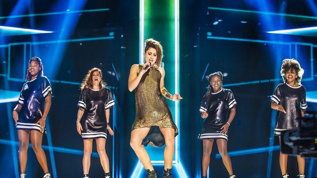 Barei. Segundo ensayo de Eurovisión