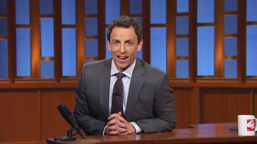 Seth Meyers en su 'Late night'