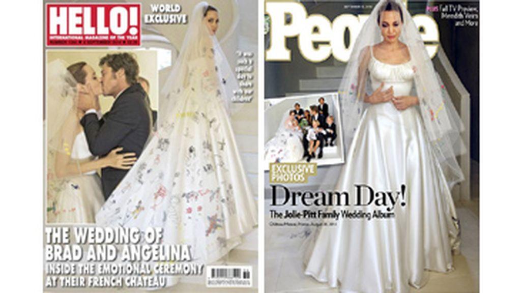 Portadas Hello! y People, boda angelina Jolie y Brad Pitt