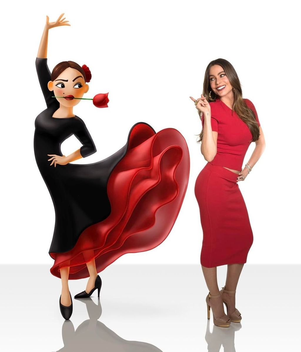 Sofía Vergara pone voz al emoticono de la flamenca en 'The emoji movie'