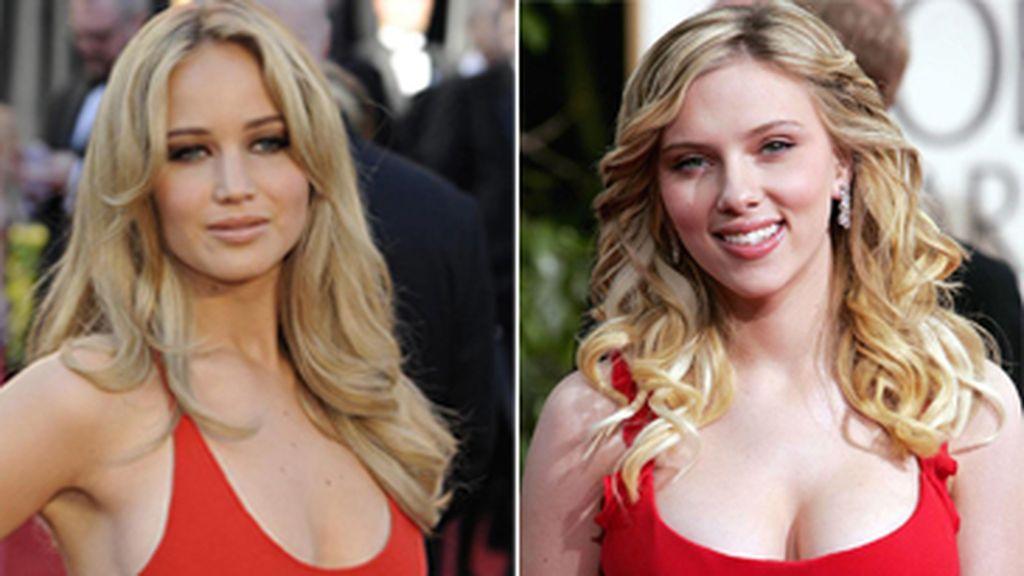 Jennifer Lawrence y Scarlett Johansson