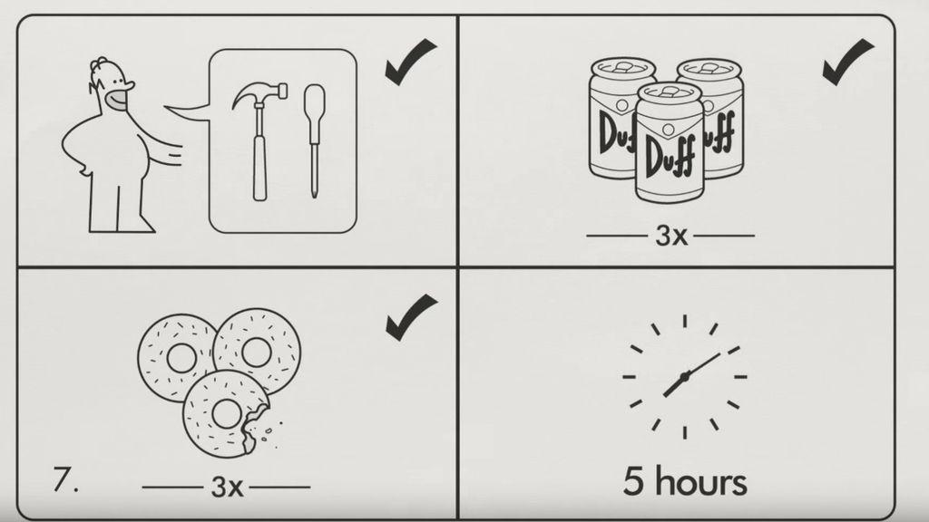 'Los Simpson' monta el 'gag' del sofá con las instrucciones de Ikea