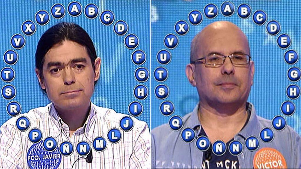 Víctor y Francisco Javier en Pasapalabra