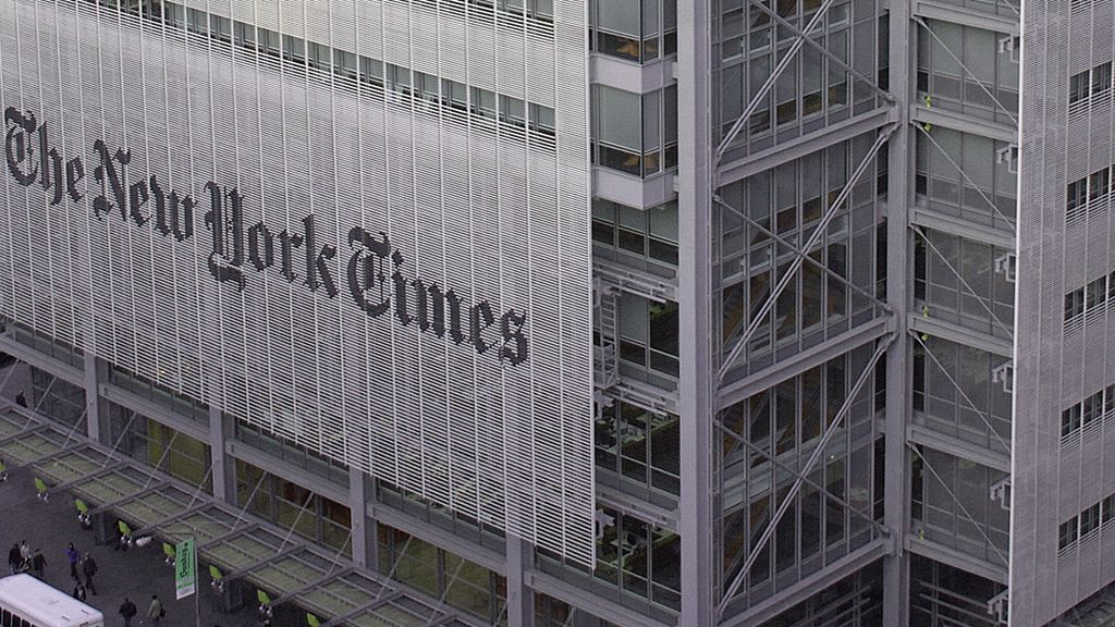 Edificio y sede del periódico 'The New York Times'