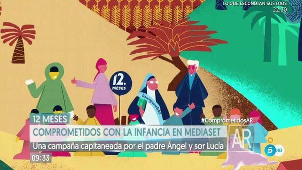 Mediaset se suma a 'Los comprometidos' para luchar por la pobreza infantil
