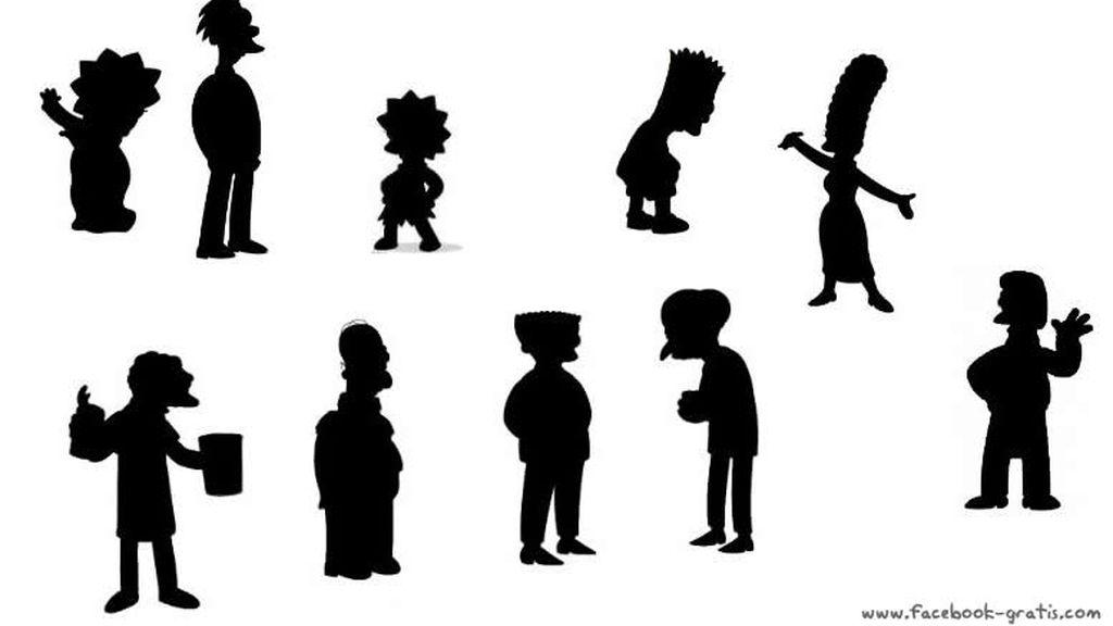 Siluetas de los Simpson
