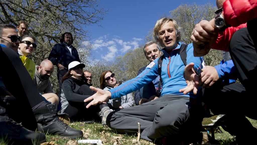 Los periodistas, famosos a la aventura por un día con Jesús Calleja (1)