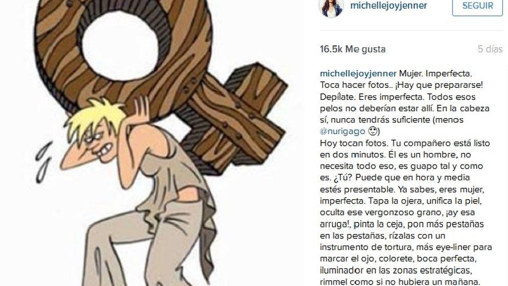 La actriz Michelle Jenner se desahoga en Instagram