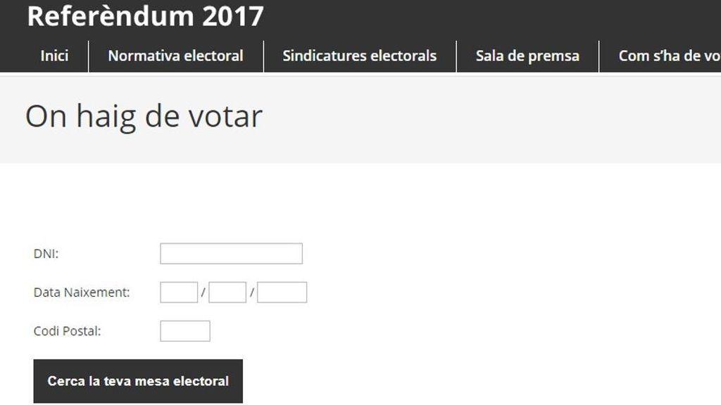 Ordenan deshabilitar la web que indica dónde puede votar cada ciudadano