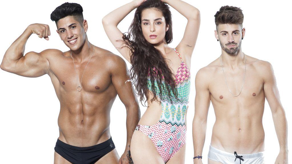 Ferre, Adela e Isaac, concursantes españoles de la tercera edición del programa de MTV 'Super shore 3'