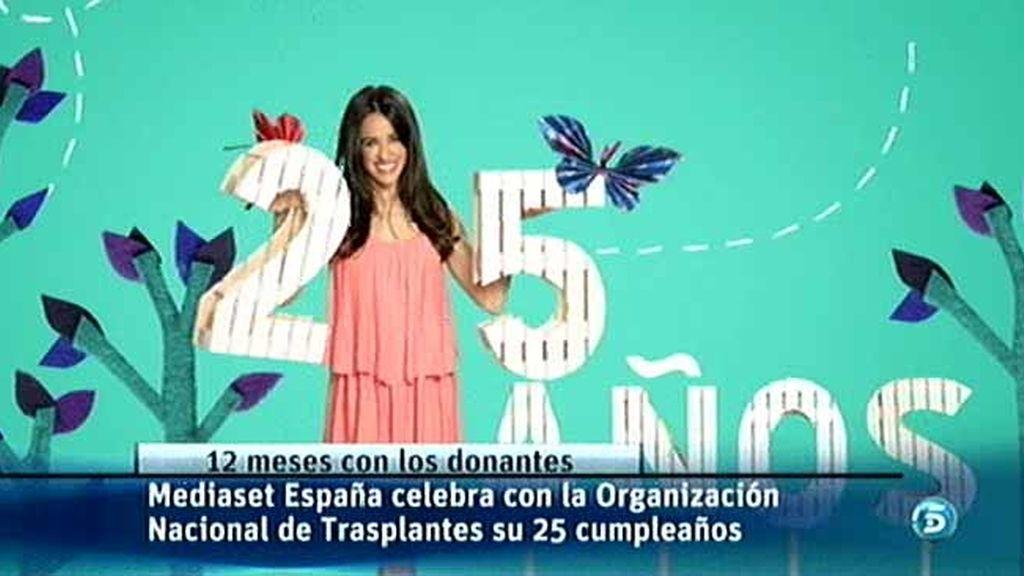 Mediaset España se suma al 25 aniversario de la ONT a través de 12 meses