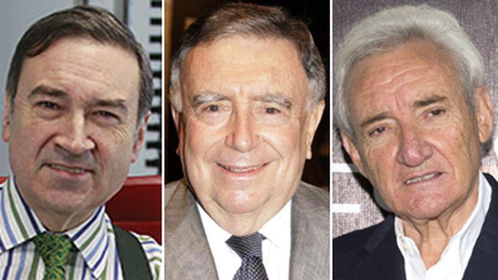 Montaje Pedro.J, Luis María Anson, Luis del Olmo. Colaboradores de 'Un tiempo nuevo'