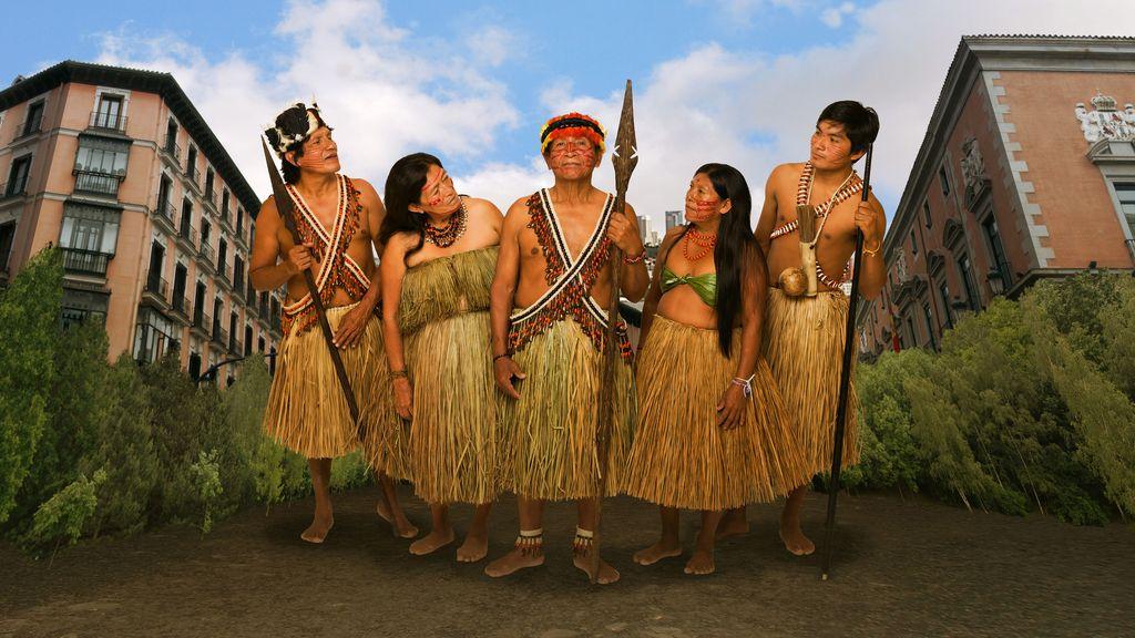 Protagonistas de 'Perdidos en la tribu'