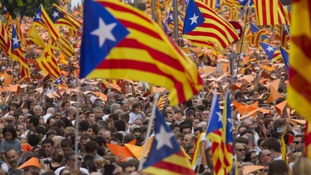 Manifestación de la Diada de 2016 en Barcelona