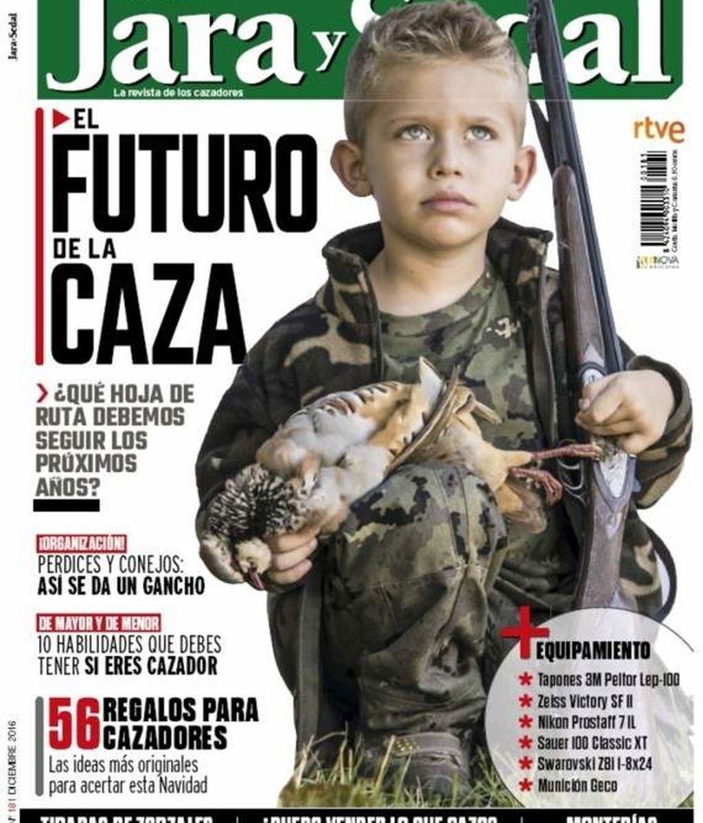 Polémica portada de la revista 'Jara y sedal'