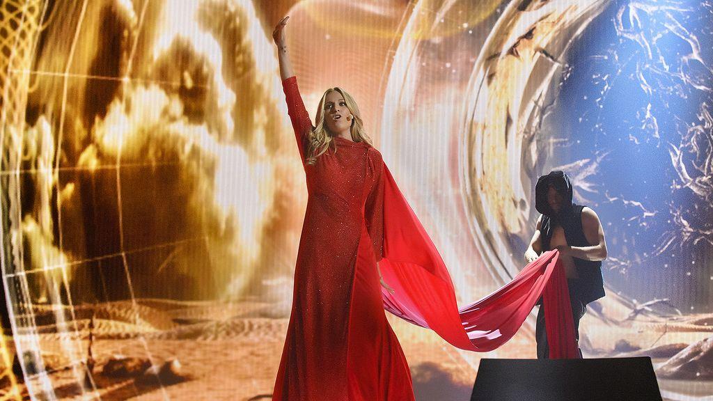Ensayo de Edurne en Eurovision