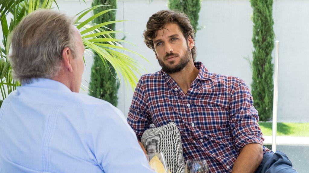 El tenista Feliciano López, invitado en el programa de Bertín Osborne 'Mi casa es la tuya'
