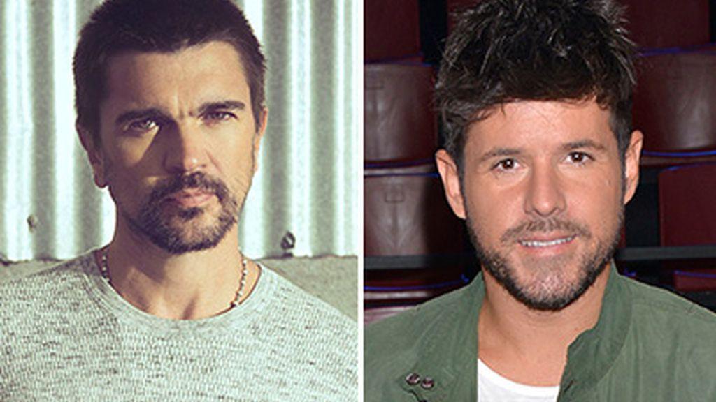 Juanes y Pablo López. Coaches de 'La voz 5'. Telecinco