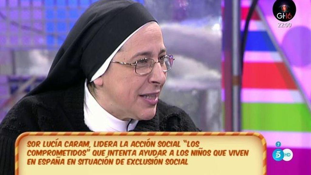 """Sor Lucia Caram: """"No podemos dejar que los niños malvivan"""""""