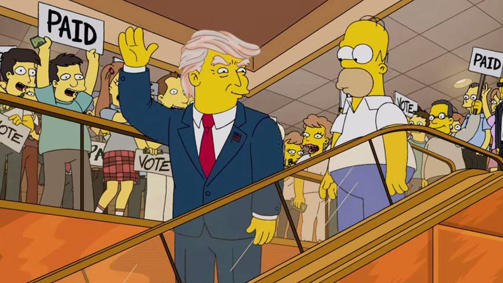 Donald Trump, Los simpsons