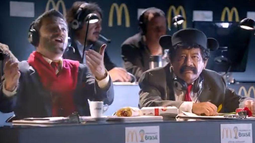 Un torero futbolero anuncia el último menú de McDonalds en Australia