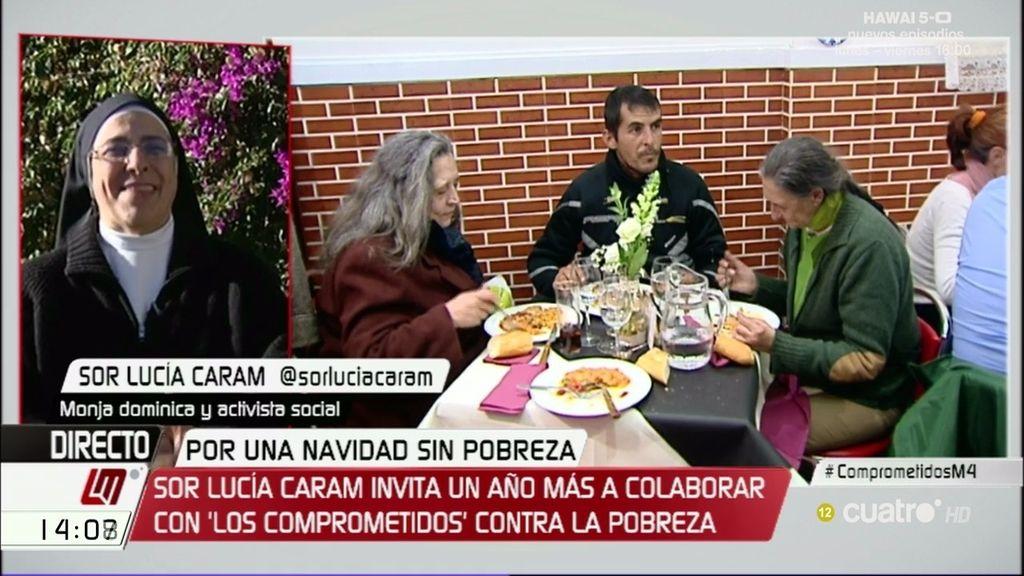 """Sor Lucía, sobre la pobreza, """"cada años hay más gente y en peores situaciones"""""""