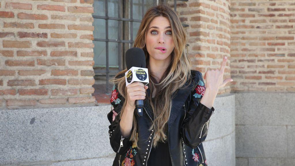Vanesa Romero presenta el concurso semanal 'Adivina vecina', el test callejero sobre 'La que se avecina', en Mtmad