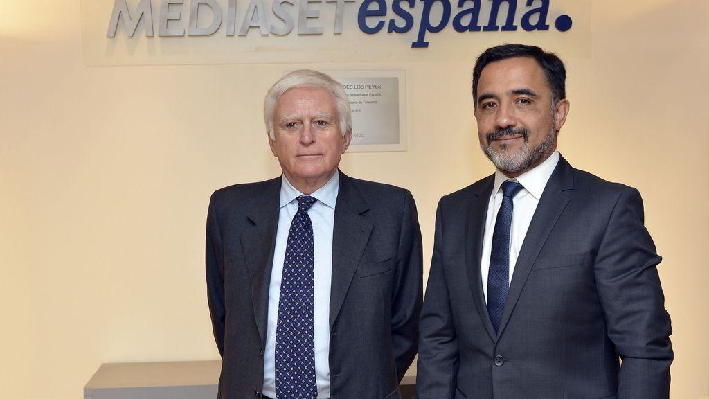 Paolo Vasile y Patricio Hernández