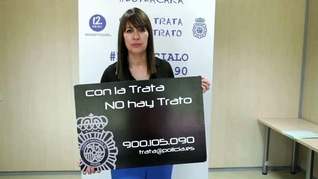Mabel Lozano da la cara contra la trata