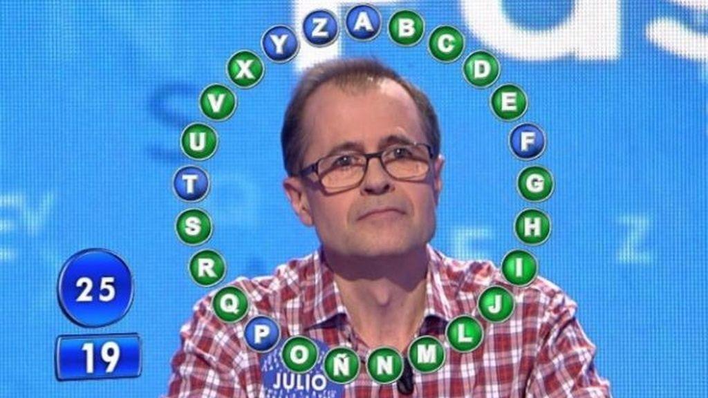 Julio Escartín, concursante de 'Pasapalabra'