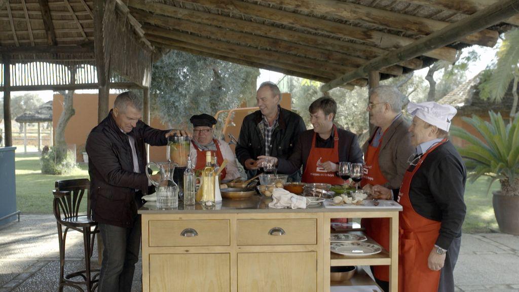 Bertín Osborne con humoristas españoles en 'Mi casa es la tuya'