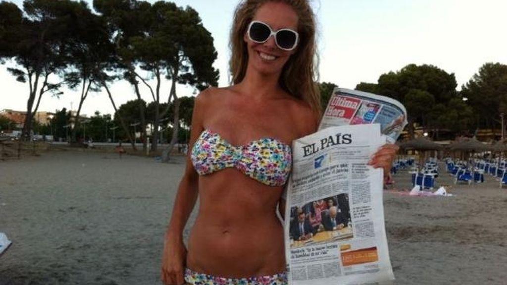 Paula Vázquez desmintiendo las fotografías de la revista 'InTouch', 2011