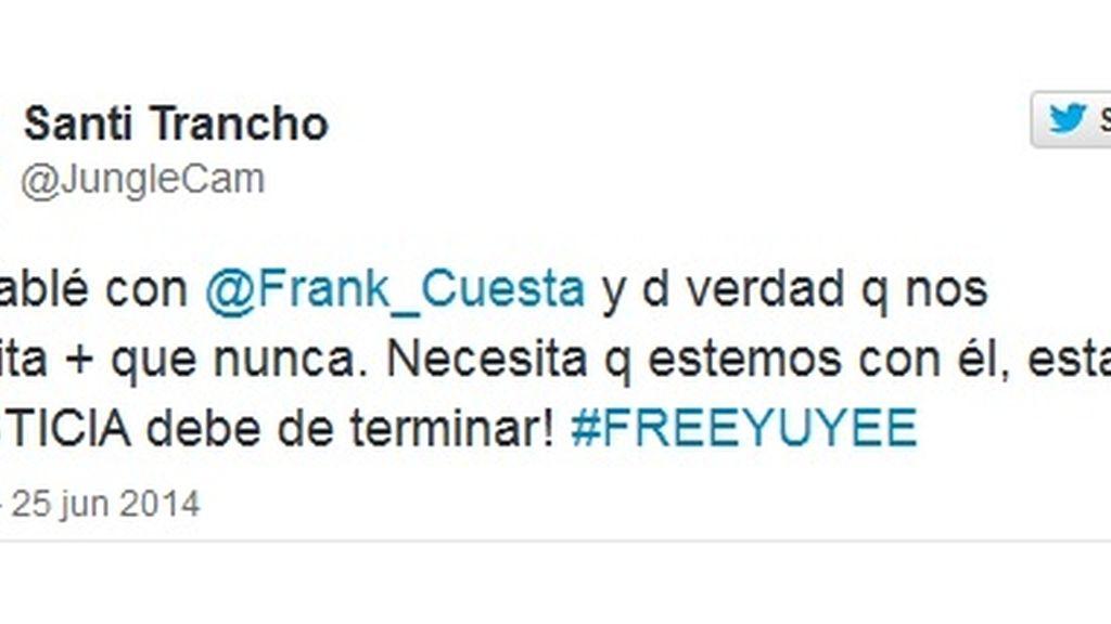 Tuit Santi Trancho #freeYuyee