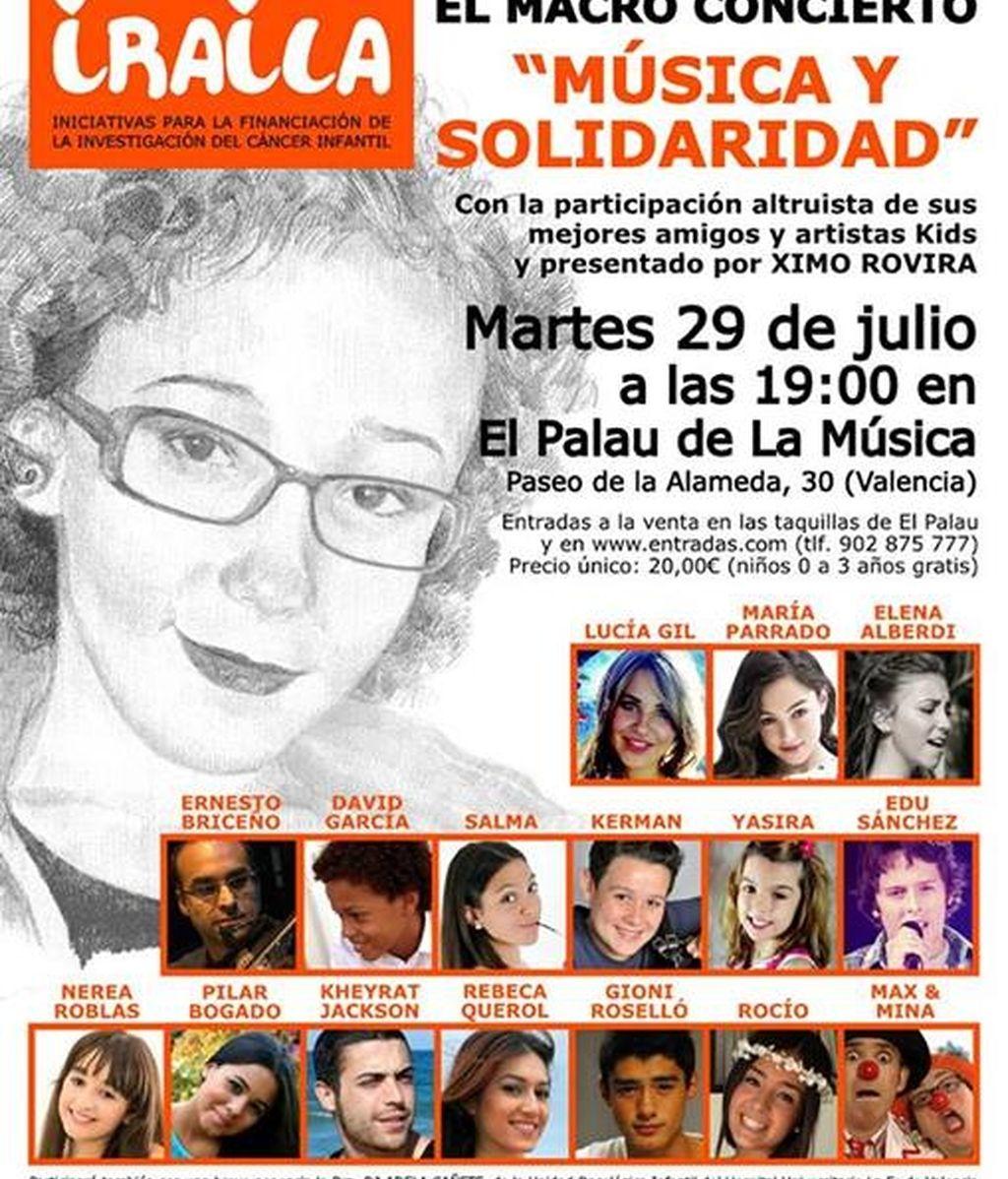 Cartel concierto ONG Iraila