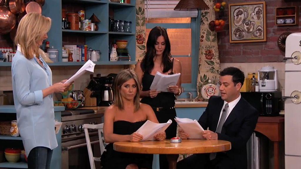 Rachel, Mónica y Phoebe se reencuentran en la cocina de 'Friends' 10 años después