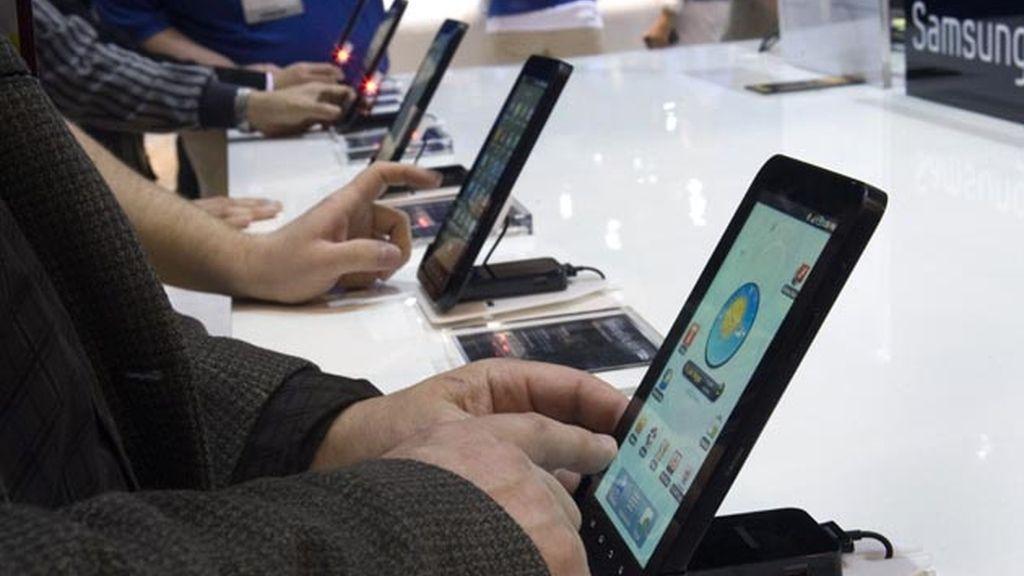 Contenidos digitales en una tablet