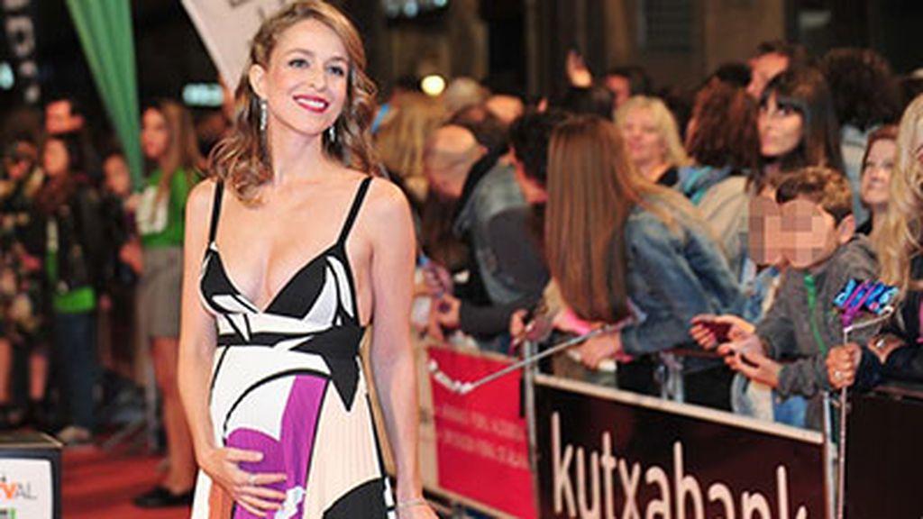 La actriz Silvia Abascal embarazada en el Festival de Vitoria