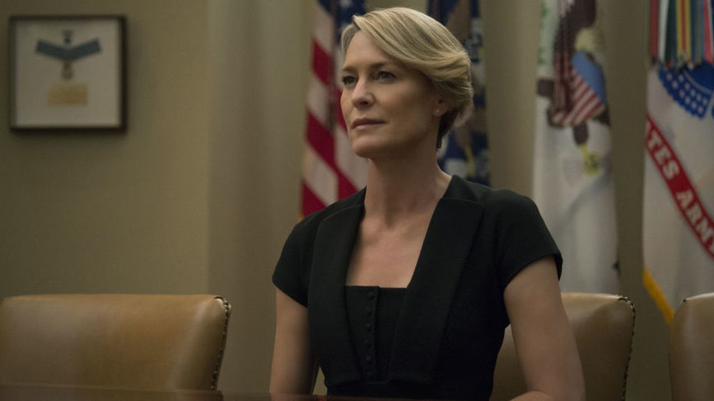 Robin Wright, Claire Underwood en la serie de Netflix 'House of cards'