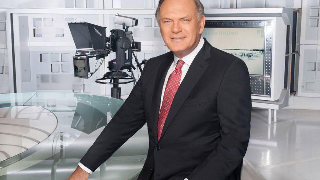 Pedro Piqueras, presentador de los informativos en Telecinco