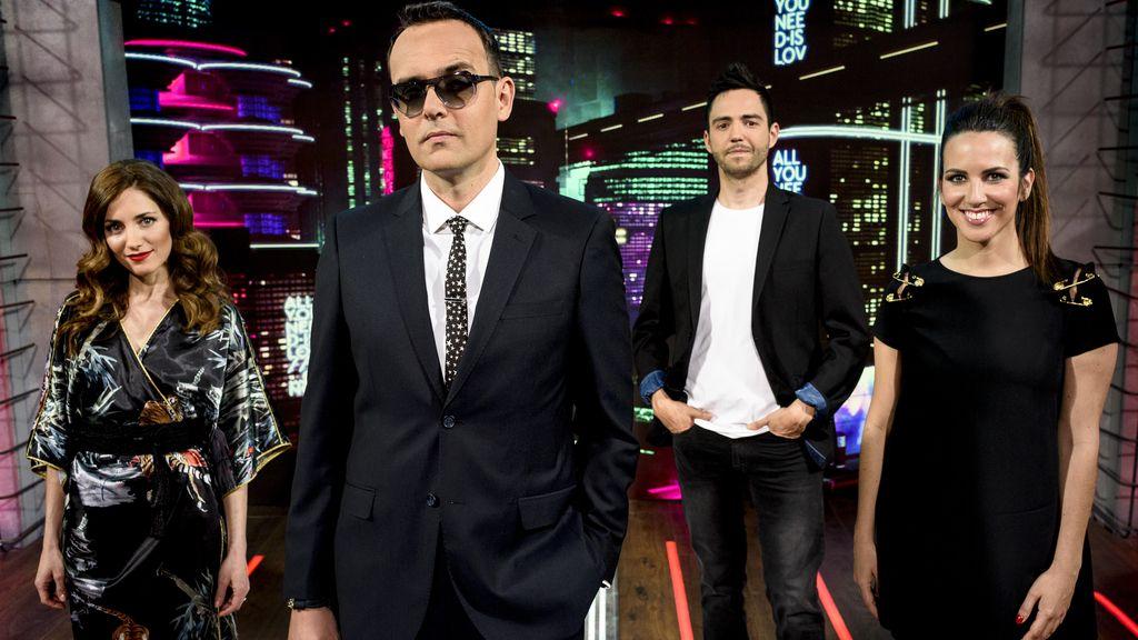 Risto Mejide, David Guapo, Irene Junquera y América Valenzuela presentan 'All you need is love... o no', en Telecinco