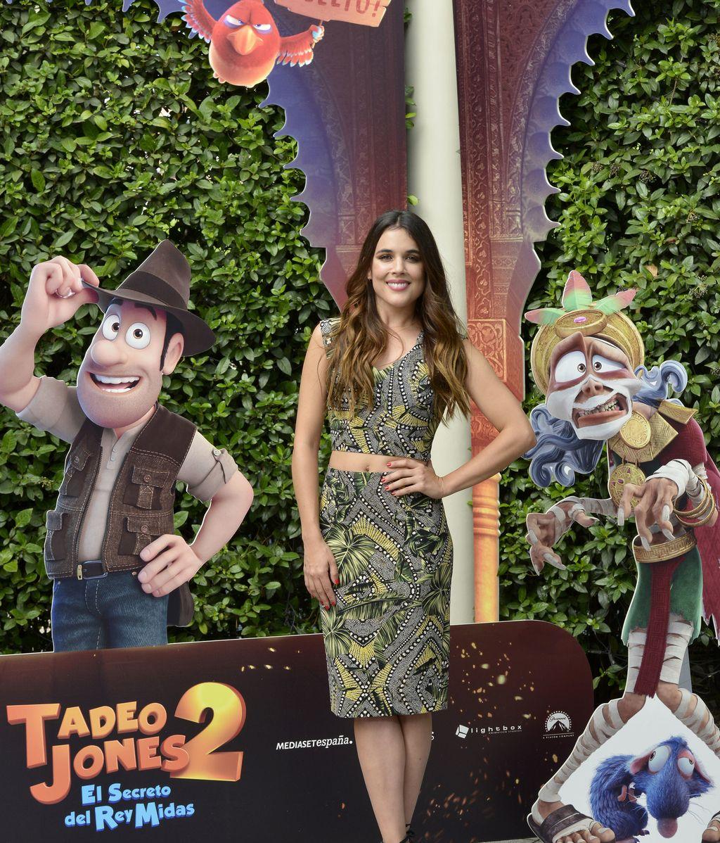 Adriana Ugarte en la premier de Tadeo Jones 2: 'El secreto del rey Midas'