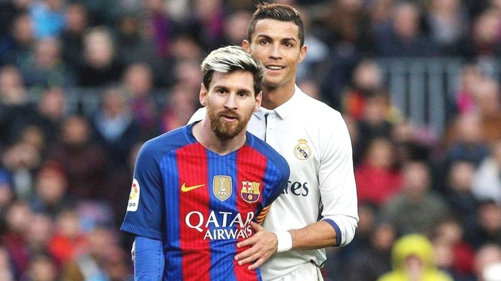 Lionel Messi y Cristiano Ronaldo, jugadores del F.C. Barcelona y del Real Madrid