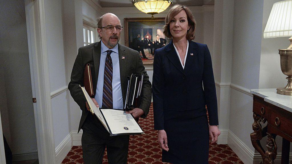 Richard Schiff y Allison Janney 'El ala oeste de la Casa Blanca'
