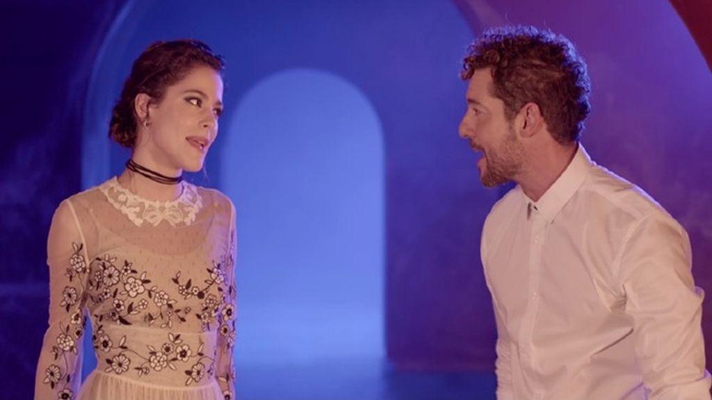 Así rodaron Bisbal y Tini Stoessel el videoclip del tema principal de 'Tadeo Jones 2'