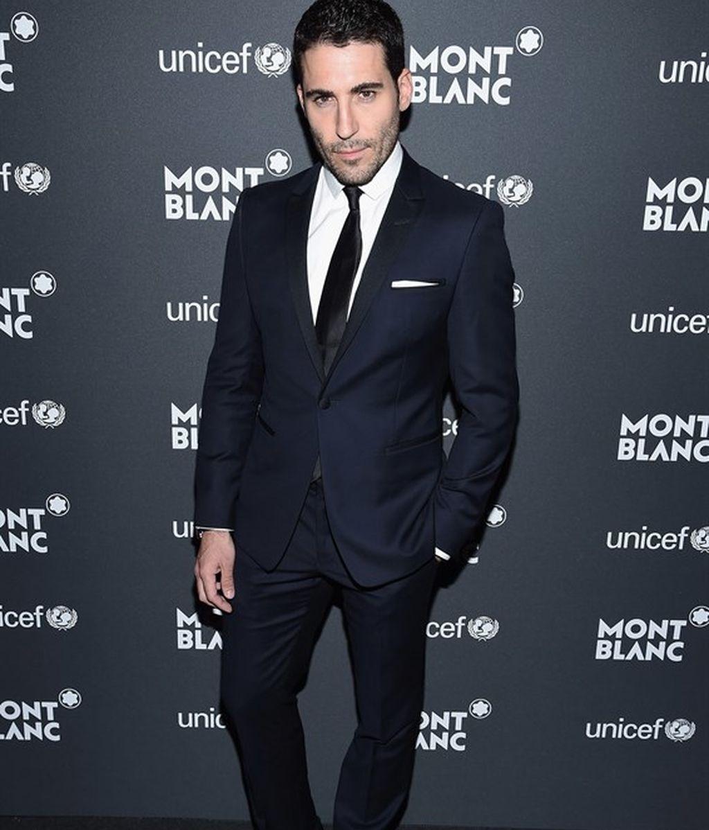 Miguel Ángel Silvestre en la gala Unicef Montblanc 2017, en Nueva York