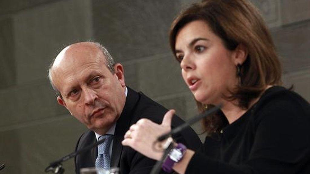 Soraya Sáenz de Santamaría y José Ignacio Wert