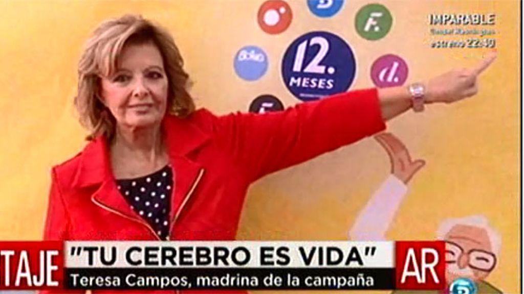 Mª Teresa Campos amadrina la campaña para vencer el ictus de 12 meses